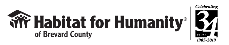 Habitat for Humanity of Brevard County, Inc.(HFHBC) is a 501(c)(3) nonprofit, ecumenical Christian ministry dedicated to eliminating sub-standard housing by building decent, safe and affordable homes for low-income, hardworking individuals and families who cannot qualify for a conventional mortgage. Logo